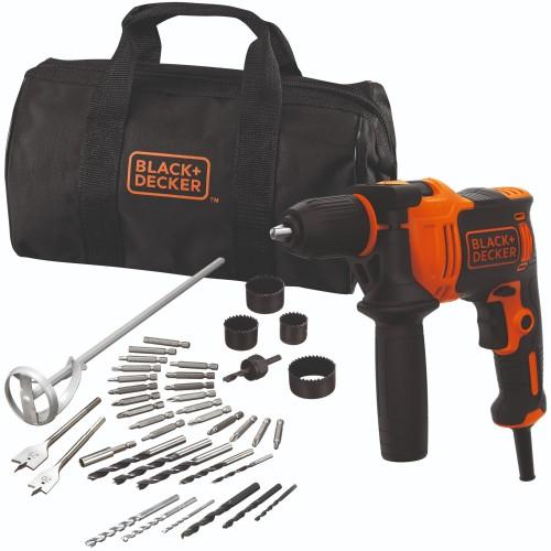 Foto Produk Black+Decker 710W Hammer Drill + 40Accessories + Softbag (BEH710SA40-Q dari Black+Decker