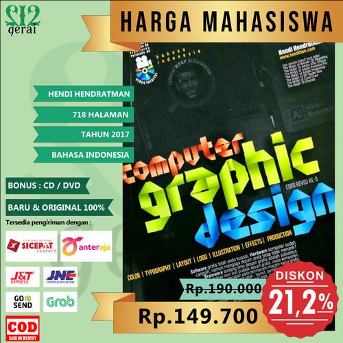 Foto Produk TERMURAH BESTSELLER Computer Graphic Design - Hendi Hendratman dari Gerai 212
