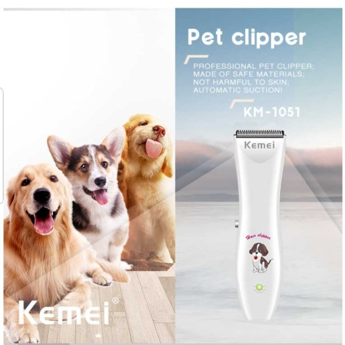 Foto Produk ALAT CUKUR BULU HEWAN KEMEI KM-1051 CAT / DOG HAIR TRIMMER PET SHAVER dari LatteBless
