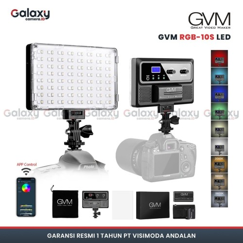 Foto Produk GVM 10S-RGB LED Video Light dari Galaxy Camera