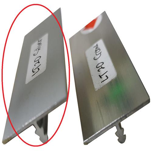 Foto Produk List Lis T Silver Chrome 20 mm x 6 mm Panjang 300 cm 3 meter Alumunium - SILVER DOP dari WINSTON-OK OFFICIAL STORE