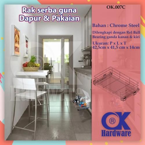 Foto Produk Rak Panci Piring Mangkok Tarik OK 007 C for Kitchen Set Cabinet 45 cm dari WINSTON SUKSES ABADI