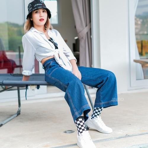Foto Produk JINISO - Highwaist Kulot Jeans 300 - 310 HYPE BAE dari JINISO.ID