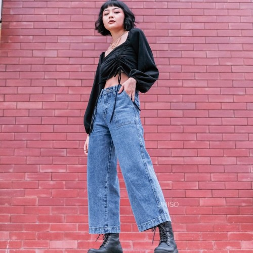Foto Produk JINISO - Highwaist Kulot Jeans 301 - 311 HYPE BAE dari JINISO.ID