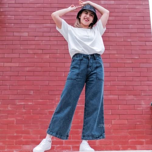 Foto Produk JINISO - Highwaist Kulot Jeans 302 - 312 HYPE BAE dari JINISO.ID