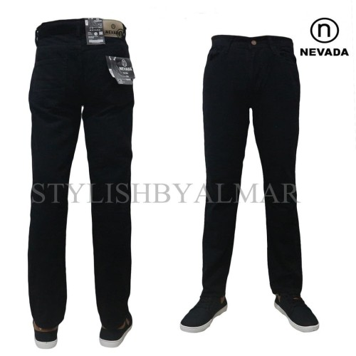 Foto Produk celana jeans regullar standar jumbo kanvas nevada hitam abu coklat - Hitam, 33 dari stylishstore23