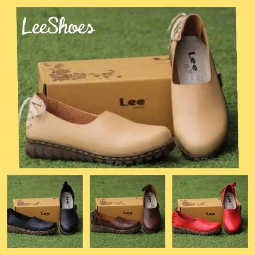 Foto Produk Sepatu casual wanita LeeShoes IKB kulit Sapi Asli Best Seller - Merah, 31 dari Wes Footwear
