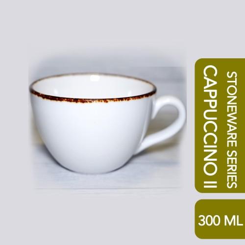 Foto Produk CAPPUCCINO II Cup White Brown Rustic 300 ML dari Arutala Online Co.