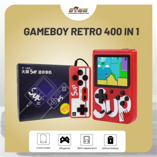 Foto Produk GAMEBOY 2 PLAYER RETRO MINI 400 in 1 SUP / GAME BOX PORTABLE GAME BOY dari Boss Muda88
