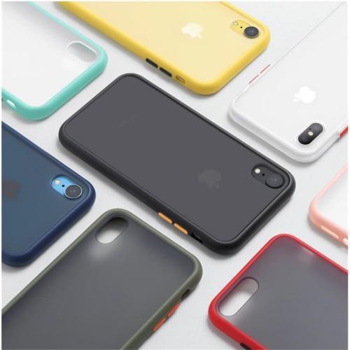Foto Produk Iphone 6 7 7+ 8+ X Xs Max 11 Pro 11 Pro Case Skin Feel Matte - IPHONE 6 / 6S, HIJAU MUDA dari Jagonya Case
