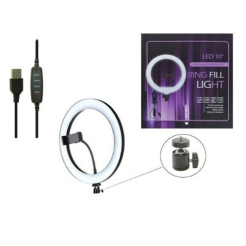 Foto Produk Ringlight 26cm CXB260 Lampu Led Ring Light youtube tiktok Make up Vlog dari DG PRO