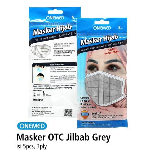 Foto Produk Masker Jilbab 3ply isi 5pcs OneMed - Kuning dari Onemed Rawat Luka