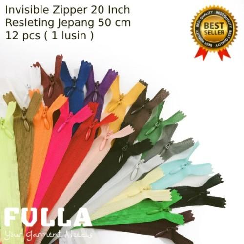Foto Produk Resleting Jepang Zipper - 1 warna, 50 cm atau 20in dari CV FULLA