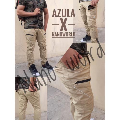 Foto Produk celana panjang gunung pria flexible outdoor hiking waterproof - XL dari Nano world