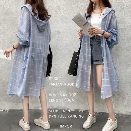 Foto Produk Tartan Long Hoodie Import TM 8238 dari PiStar Women