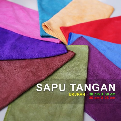 Foto Produk Sapu Tangan Polos Import 30x30 cm - Ungu dari pede mall