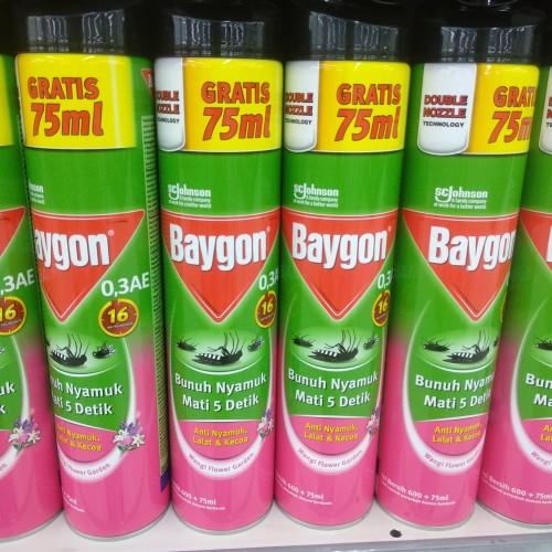 Foto Produk Baygon Wangi Flower Garden 600+75ml dari cubeecubee