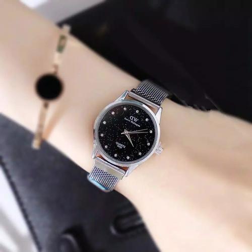 Foto Produk JAM TANGAN WANITA MAGNET 7 WARNA GROSIR IMPORT PREMIUM MURAH DW025 - Silver dari LatteBless