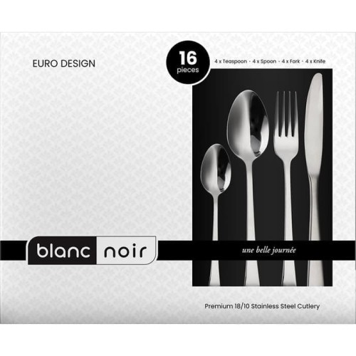 Foto Produk BLANC NOIR CUTLERY PREMIUM SET 16 PCS dari Cooks Habit