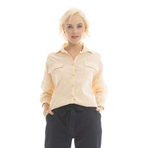 Foto Produk Lucy Blouse Beatrice Clothing - Kemeja Wanita - Light Khaky dari Beatrice Clothing