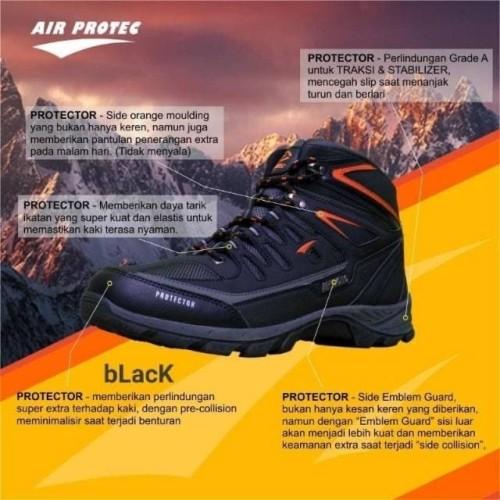 Foto Produk Sepatu Gunung Waterproof Air Protec Protector - Outdoor Hiking Shoes - BlackOrange dari Travelonest
