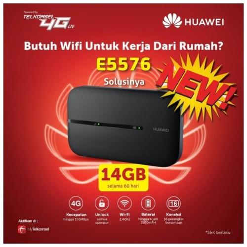 Foto Produk Mifi Router Modem Wifi 4G Huawei E5573 Telkomsel Unlocked Free 14Gb dari Uniq Computer