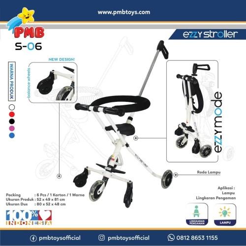 Foto Produk Ezzy Stroller S-06 (Putih) PMB dari PMB TOYS