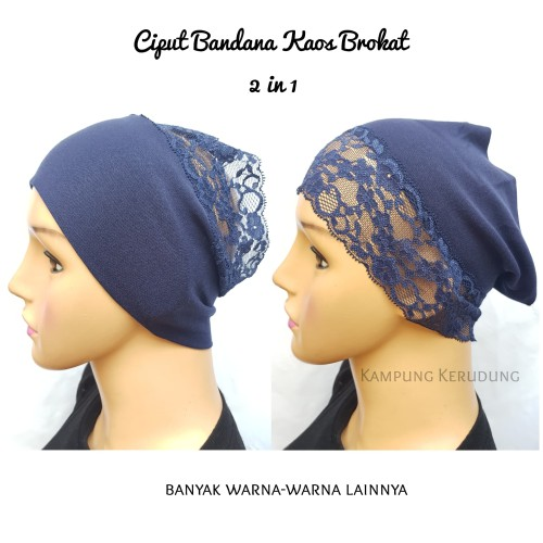 Foto Produk Ciput Bandana Kaos Brokat 2 in 1 Inner Bando Hijab Jilbab Segiempat dari Kampung Kerudung