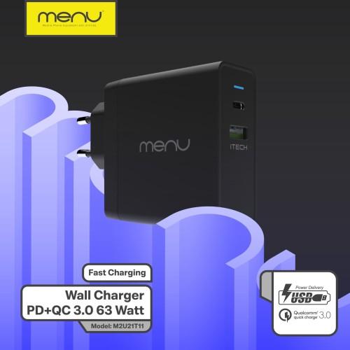 Foto Produk MENU Kepala charger Fast Charging Power Delivery 3.0 63 Watt dari MENU Official Store