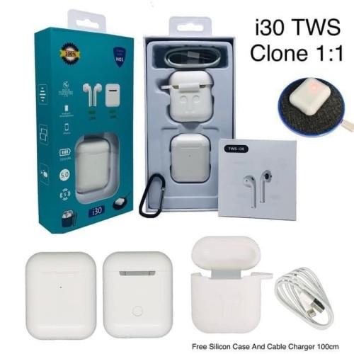 Foto Produk i30 TWS Headset Bluetooth Airpods Clone 1:1 i7S i9S i10 i11 i12 i18 dari Origin Aksesoris Hp Official Store