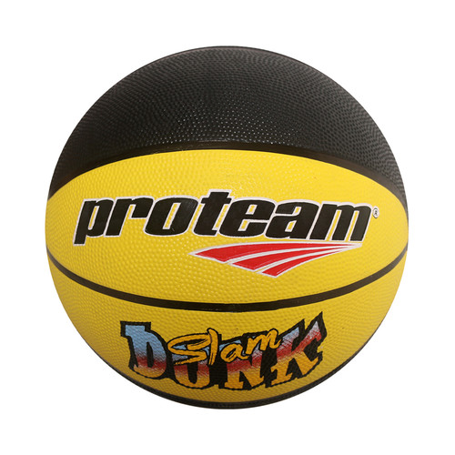 Foto Produk Proteam Bola Basket Rubber Slam Dunk - Yellow Black dari Proteam Indonesia
