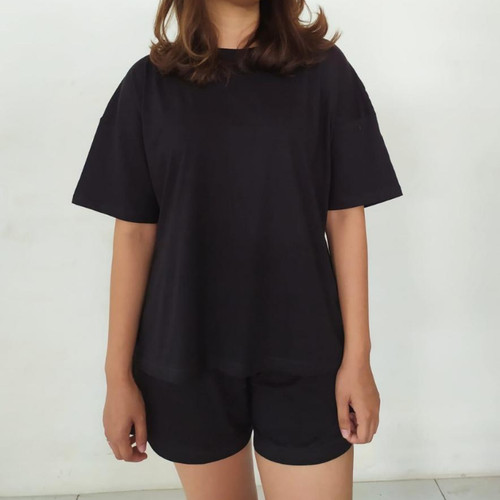 Foto Produk Home Wear Set - Cotton Bamboo 30s - Black, All Size dari AM Clothing Supply