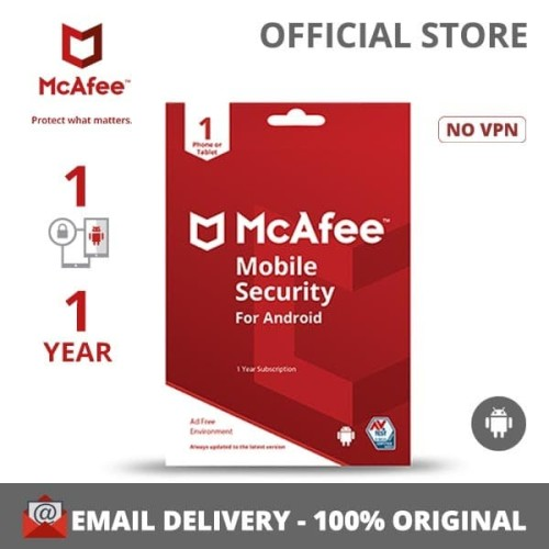 Foto Produk McAfee® Mobile Security Software Antivirus Android(1Device/1 Year) dari McAfee Official Store