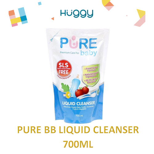 Foto Produk Pure BB Baby Liquid Cleanser Refill 700ml Sabun Cuci Pembersih Dot dari Huggy Baby