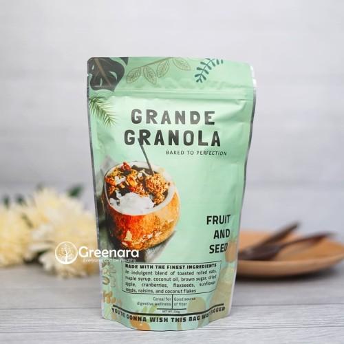 Foto Produk Grande Granola Fruits and Seeds 230gr / Sarapan Sehat dari Greenara