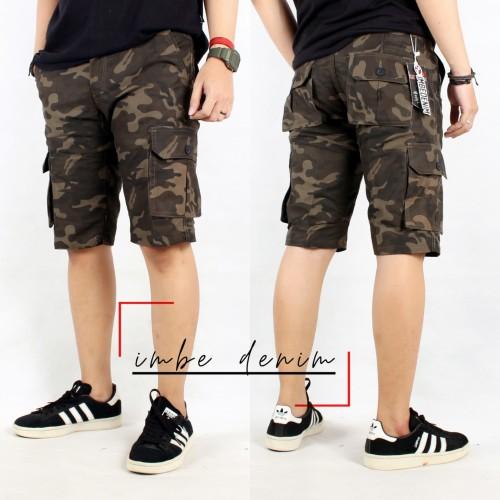 Foto Produk Celana pria cargo pendek loreng cargo army pendek dari Lushy fashion