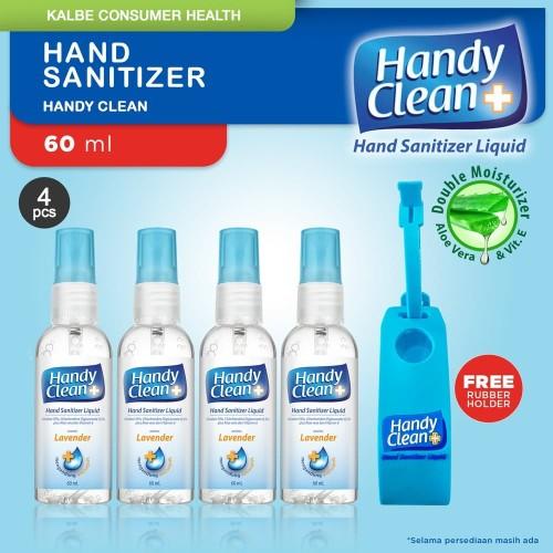 Foto Produk Handy Clean Hand Sanitizer 60 ml - 4 Botol dari Kalbe Consumer Health