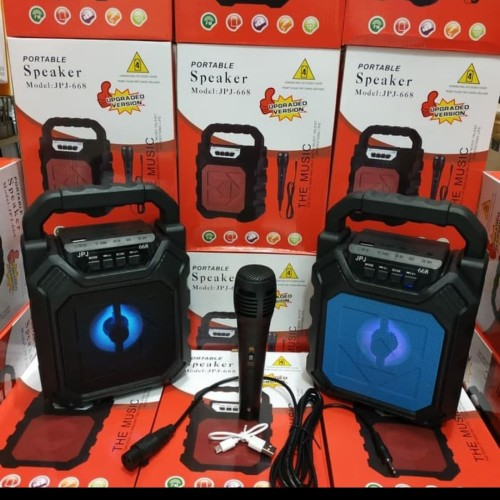 Foto Produk Speaker bluetooth portable jpj 668 free mic/speaker karaoke jpj 668 dari MARISHOP88