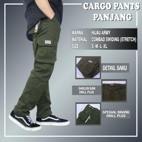Foto Produk Celana Cargo Pants Pria Distro Premium OCTHA CLASSIC Terbaru Murah - Hijau, S dari Bandung-CenterOnline