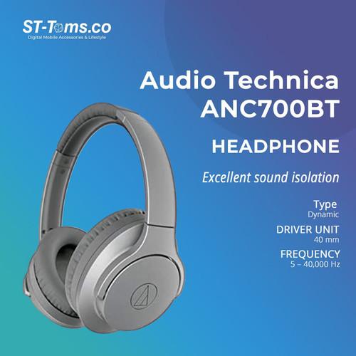 Foto Produk Audio Technica ATH ANC700BT WIRELESS NOISE-CANCELLING HEADPHONES Black - Silver dari ST-Toms.co