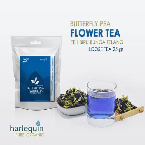 Foto Produk Teh Bunga Telang 25 Gram Butterfly Pea Flower Tea - Teh Biru dari Harlequin Herb