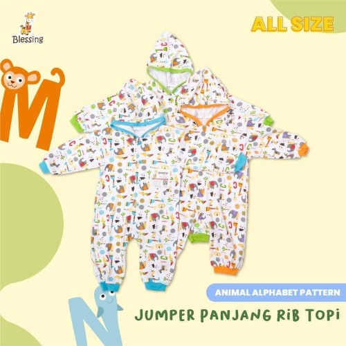 Foto Produk Blessing Babywear-baby jumper panjang rib topi-alphabet dari BLESSING Babywear