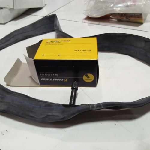 Foto Produk Ban Dalam Sepeda United 16 x 1.75 / 2.125 , American Valve (AV) dari Sekawan Sepeda