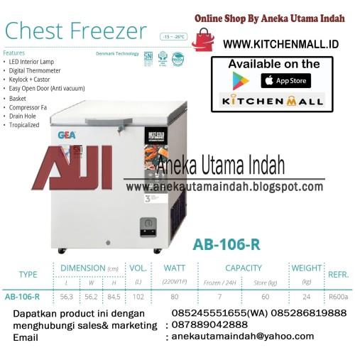 Foto Produk GEA AB-106-R Chest Freezer / Box Lemari Pendingin / Freezer Box - PUTI dari Aneka Utama Indah