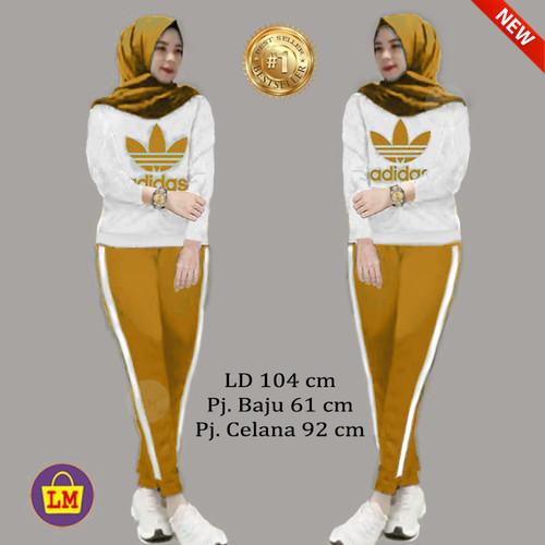 Foto Produk LM 12856 Setelan Olahraga Senam Training Wanita ADDS COMBI TERMURAH - Kunyit dari Lobby Mode