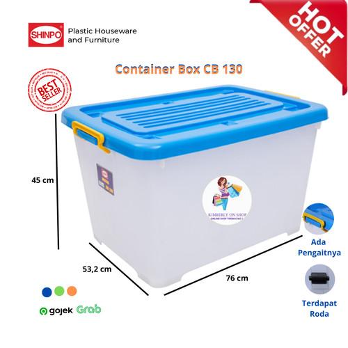 Foto Produk Box Plastik Menyimpan Serbaguna (Container Box) Shinpo Mega CB 130 dari KimberlyOnShop