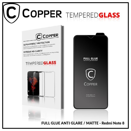 Foto Produk Redmi Note 8 - COPPER Tempered Glass Full Glue ANTI GLARE - MATTE dari Copper Indonesia