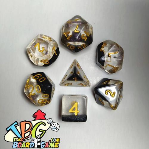 Foto Produk 7 High Quality Polyhedral Dice Set DND Dice Dadu RPG + Pouch - Crystal Dice dari Toko Board Game