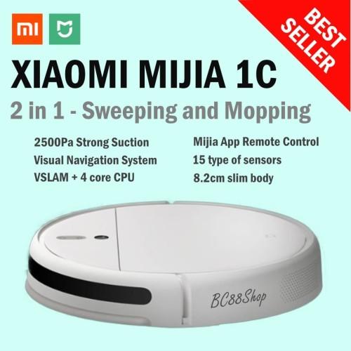 Foto Produk Xiaomi Mijia 1C - 2 in 1 Sweeping Mopping Robot Vacuum Cleaner dari BC88Shop