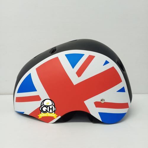 Foto Produk HELM SEPEDA NEW NVR MOTIF HELM SEPEDA LIPAT SEPEDA GOWES - Inggris dari Global helmet